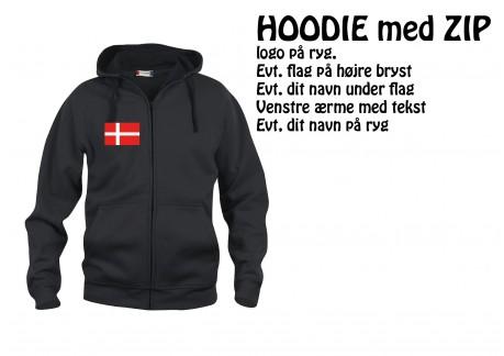 1 MFK Hoodie zip CL 0210034 Voksen