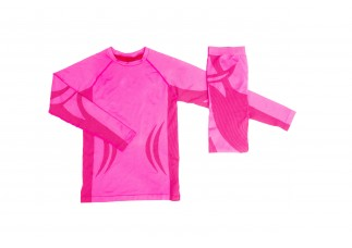 00 COLD Skiundertøj Seamless Junior pink