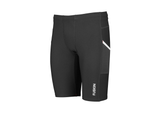 EJBY Fusion Comp3 kort tight med lomme SORT