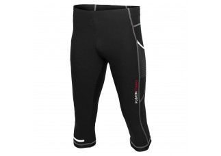 EJBY Fusion Comp3 3/4 tight med lomme SORT
