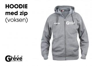 GT hoodie ZIP 021034 grå