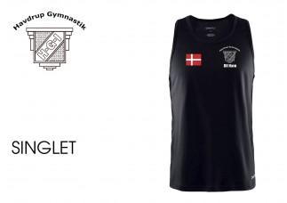 Havdrup Gym 1905160/1905164 Mand/Børn Singlet sort