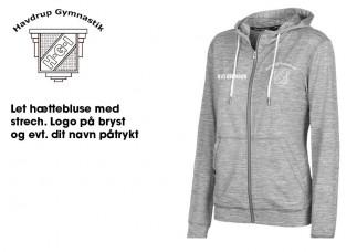 Havdrup Gym Dame hættebluse PS 4447 grå