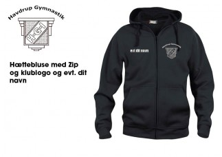 1 Havdrup Gym. Hættebluse ZIP CL210034 sort