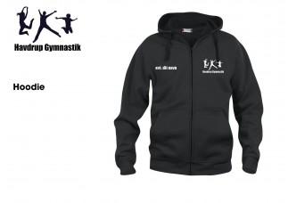 1 Havdrup Gym. Hættebluse ZIP CL210034 sort